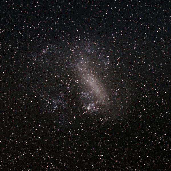 Dorado with the Large Magellanic cloud containing the Tarantula Nebula - 22/10/2016 (Processed cropped stack)