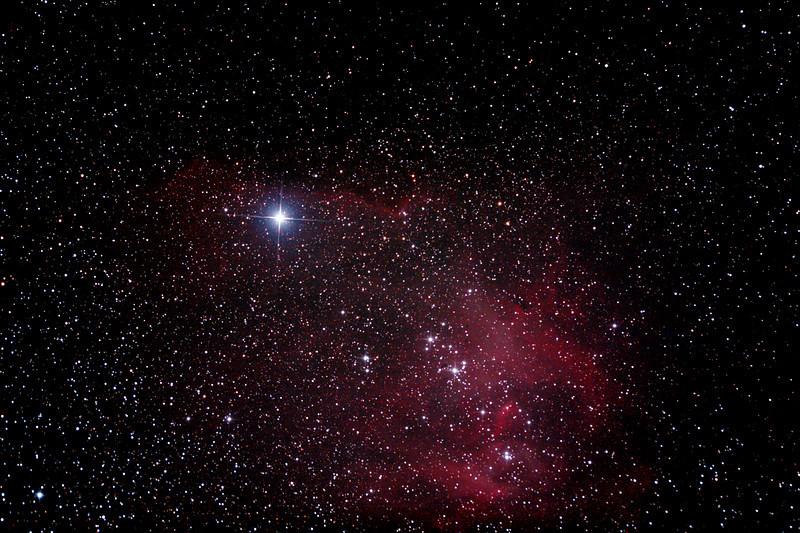 Caldwell 100 - IC2944 - Gum 42 - Running Chicken or Lamda Centauri Nebula - 7/4/2013 (Processed stack)