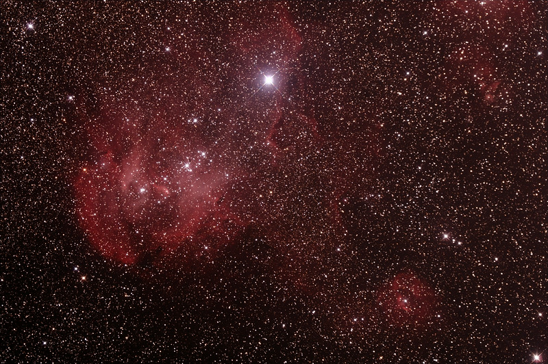 Caldwell 100 - IC2944 - Gum 39/40/41/42 - Running Chicken or Lamda Centauri Nebula in Centaurus - 27/6/2014 (Processed stack)