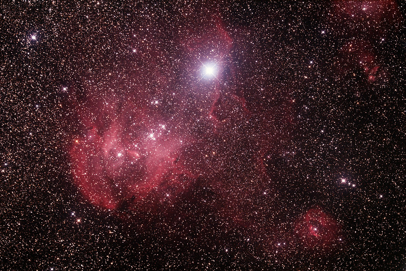 Caldwell 100 - Gum 39/40/41/42 - Running Chicken or Lamda Centauri Nebula in Centaurus - 21/2/2015 (Processed stack)
