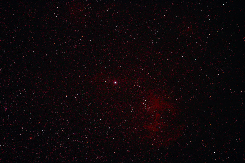 Caldwell 100 - IC2944 - Running Chicken or Lamda Centauri Nebula - 1/2/2011 (Processed stack)