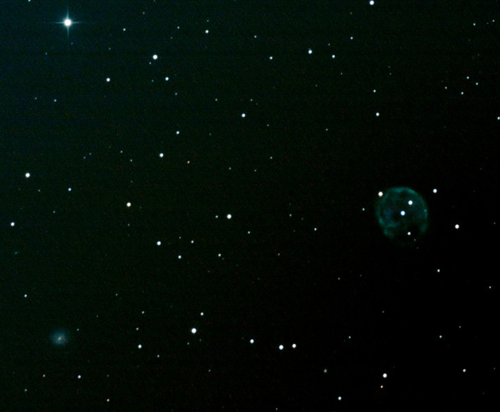 Caldwell 56 - NGC246 - Skull Nebula and NGC255 Spiral Galaxy in Cetus - 9/10/2012 (Processed cropped stack)