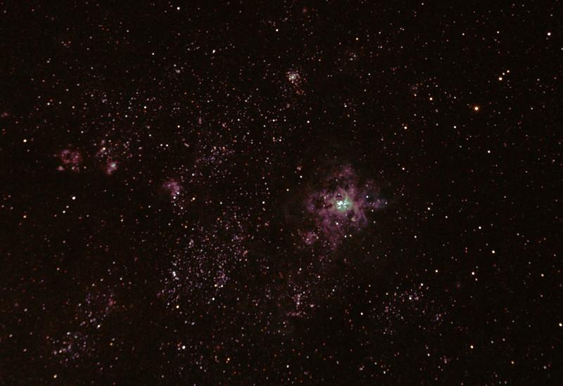 Caldwell 103 - NGC2070 - 30 Doradus Tarantula Nebula from  Mundaring Weir 5/1/2011 (Processed cropped stack of 2)