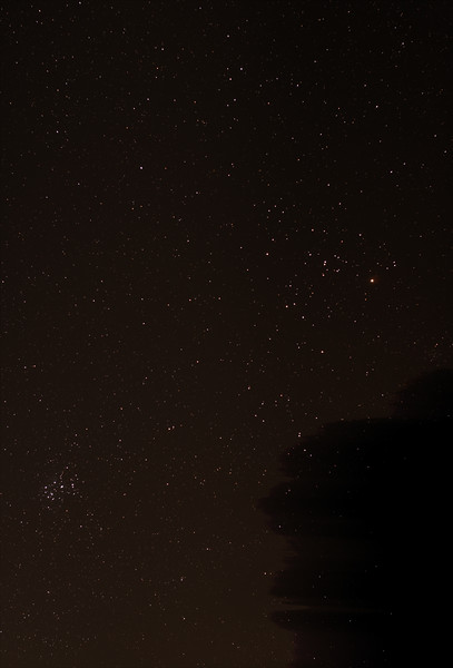 Taurus with The Pleiades and Hyades - 22/10/2016 (Processed stack)