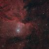 NGC6188 - Gum 53 - RCW108 - Rim Nebula in Ara  - 14/8/2021 (Processed stack)