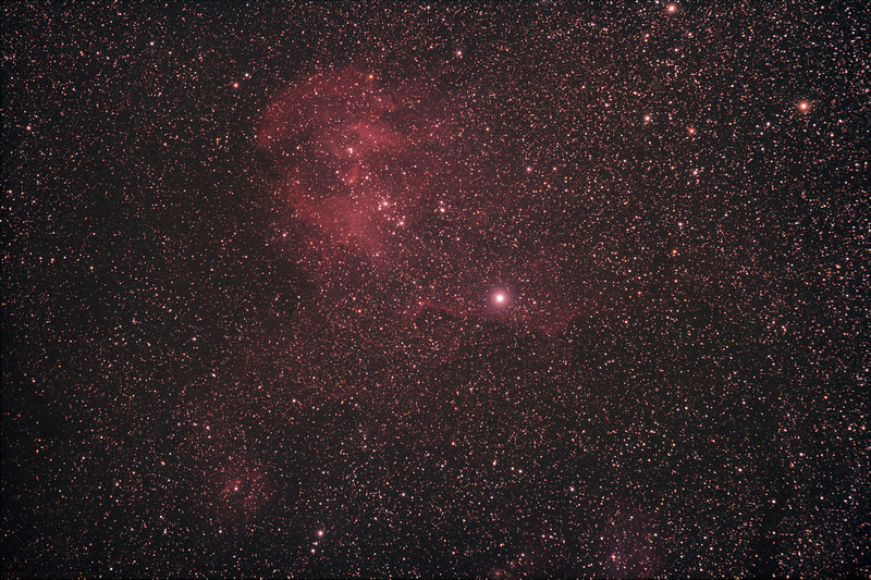 Caldwell 100 - IC2944 - Running Chicken or Lamda Centauri Nebula - 8/4/2011 (Processed stack)