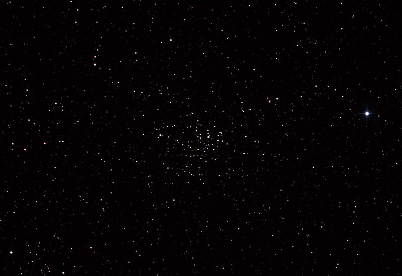 Caldwell 58 - NGC2360 - Caroline's Cluster Open Cluster in Canis Major - 3/2/2013 (Processed cropped stack)