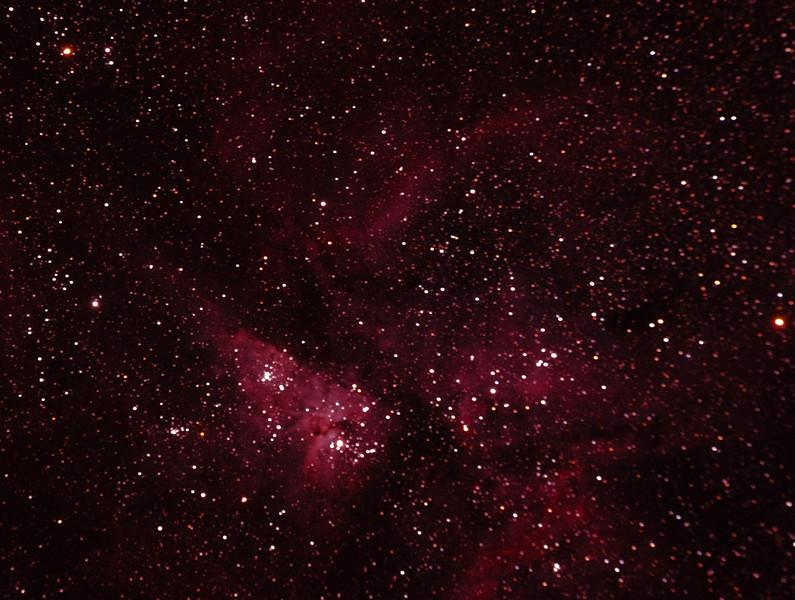 Caldwell 92 - NGC3372 - Eta Carinae Nebula from Mundaring Weir 5/1/2011 (Single processed cropped image)