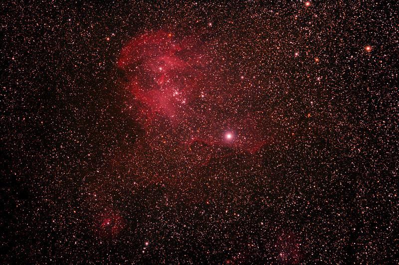 Caldwell 100 - IC2944 - Gum 42 - Running Chicken or Lamda Centauri Nebula - 8/4/2011 (Re-processed stack)