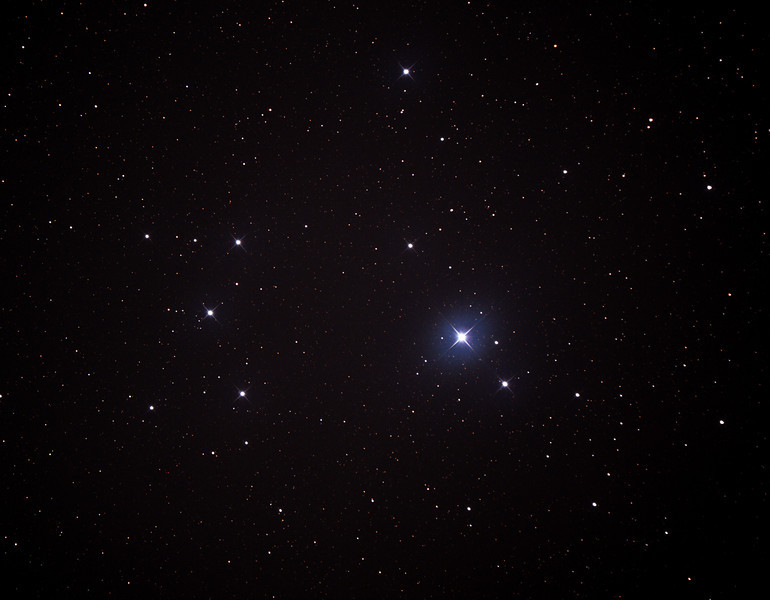 Caldwell 102 - IC2602 - Southern Pleiades or Theta Carina Cluster - 13/6/2014 (Processed cropped stack)