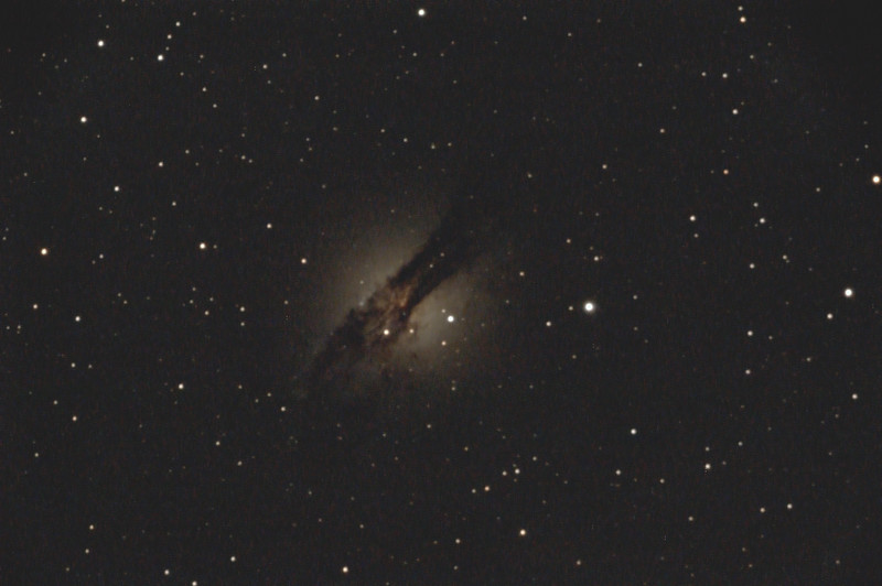M14 Guiding test with C77 - NGC5128 Centaurus A Galaxy - 10/4/20 (Processed stack)