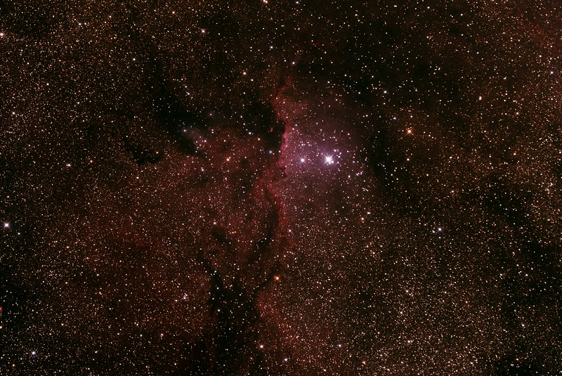 Caldwell 82 - NGC6188 - Gum 53 - RCW108 - Rim Nebula in Ara - 28/6/2014 (Processed stack)