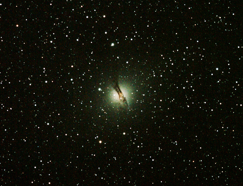 Caldwell 77 - NGC5128 Centaurus A Galaxy - 6/6/2011 (Re-processed cropped stack)