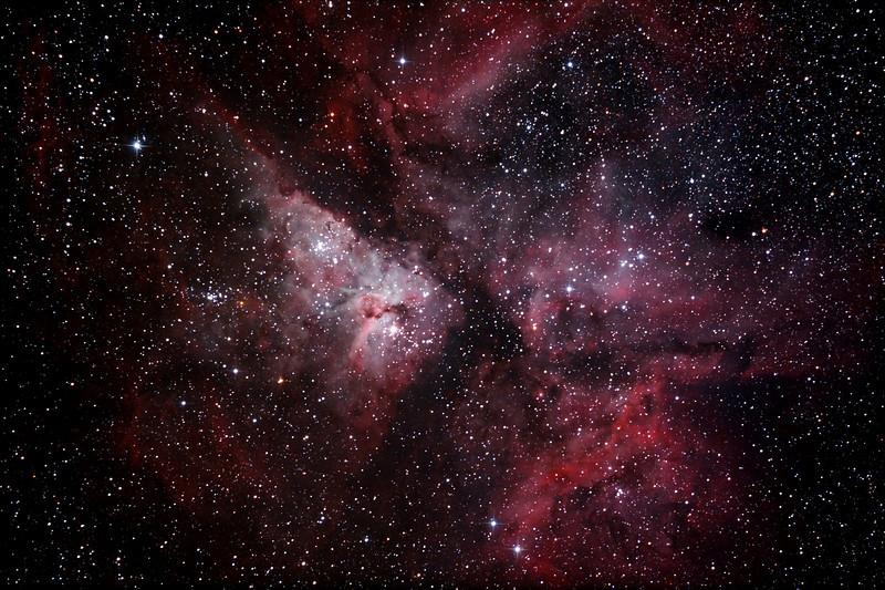 Caldwell 92 - NGC3372 - Eta Carinae Nebula - 9/1/2013 (Processed stack)