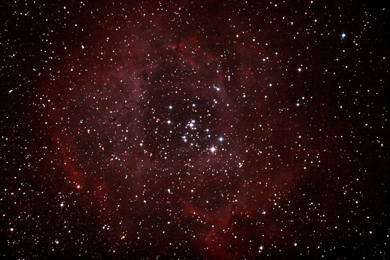 Caldwell 49 & 50 - NGC2237-9,NGC2244, 2246 - Rosette Nebula and Open Cluster in Monoceros - 9/2/2013 (Processed stack)