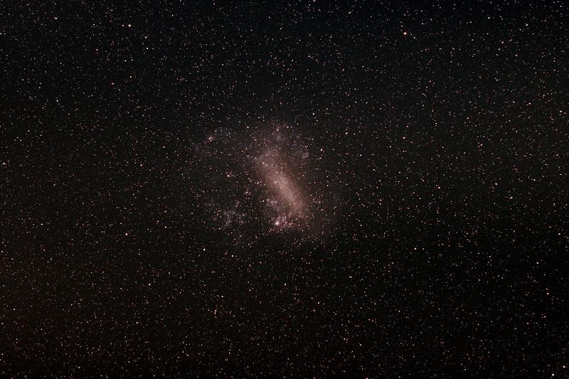 Dorado with the Large Magellanic cloud containing the Tarantula Nebula