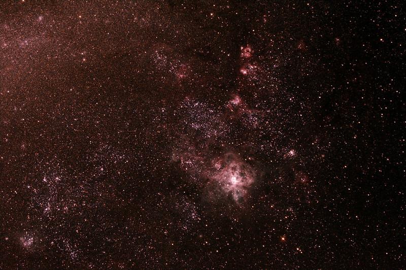Caldwell 103 - 30 Doradus - Tarantula Nebula in Doradus - 23/8/2013 (Processed stack)