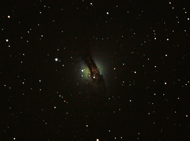 Caldwell 77 NGC5128 Centaurus A Galaxy - 14/04/2012 (Processed and cropped stack)