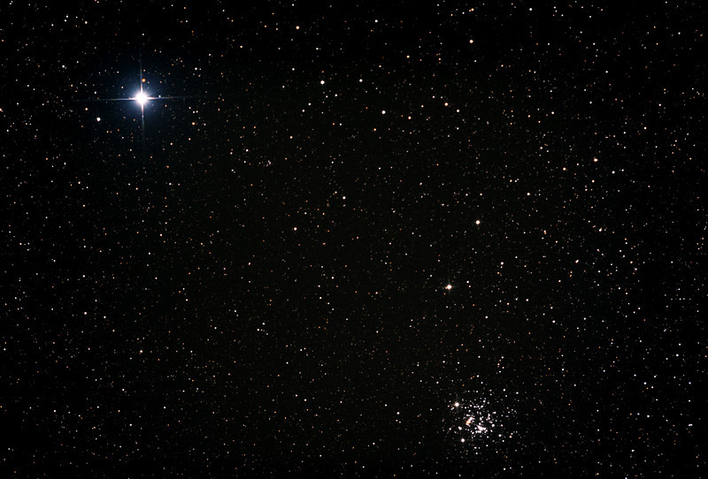 Caldwell 94 - NGC4755 - Jewel Box Cluster and Beta Crucis - 1/4/2013 (Processed stack)