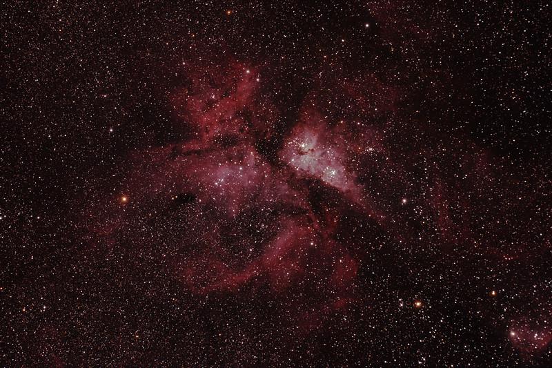 Caldwell 92 - NGC3372 - Eta Carinae Nebula - Dark Sky site near Wagin - 4/3/2011 (Processed stack)