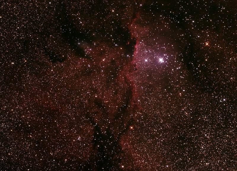 Caldwell 82 - NGC6188 - Gum 53 - RCW108 - Rim Nebula in Ara - 28/6/2014 (Processed cropped stack)