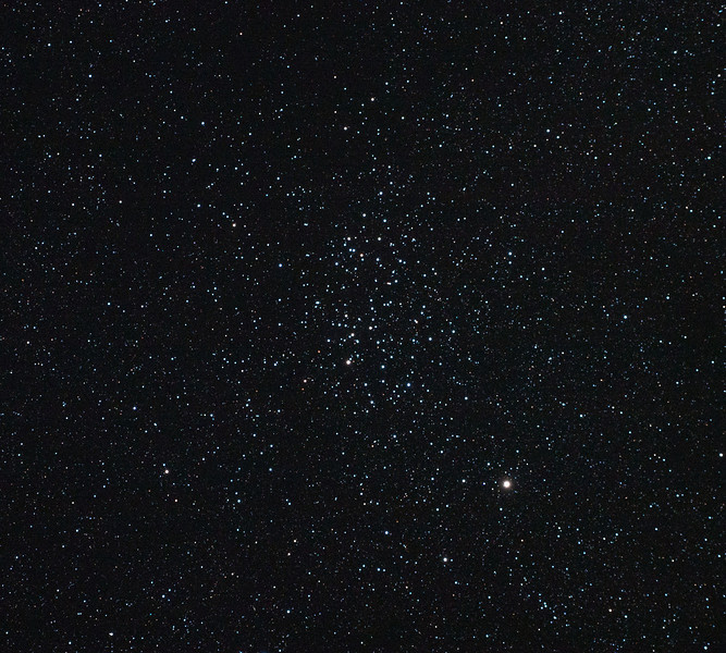 Caldwell 91 - NGC3532 - Wishing Well Cluster - 23/2/2011 (Processed single in-camera dark)