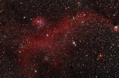 IC2177 - Gum 1&2 - Seagull Nebula with Gum 3 - 4/1/2014 (Re-processed Cropped Stack)