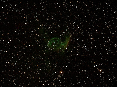 NGC2359 - Gum 4 - Thor's Helmet in Canis Major - 20/10/2012 (Processed cropped stack)
