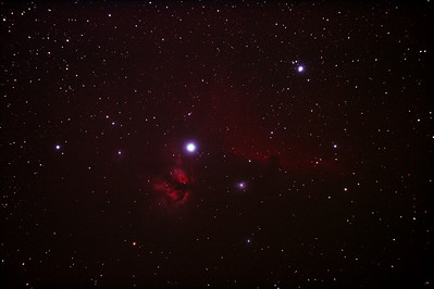 IC434 Horsehead Nebula near Star Alnitak - 8/12/2010 (Re-processed Stack 1/3)