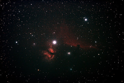 IC434 Horsehead Nebula near Star Alnitak - 8/12/2010 (Processed Stack 1/3)