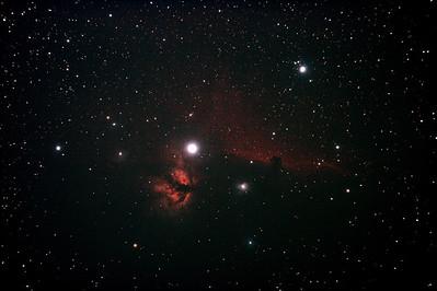 IC434 Horsehead Nebula near Star Alnitak - 8/12/2010 (Processed Stack 1/3)