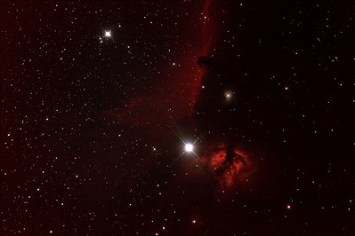 IC434 Horsehead Nebula near Star Alnitak - 21/12/2011 (Processed stack)