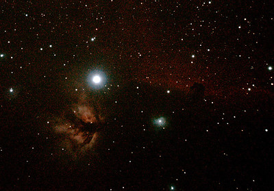 IC434 Horsehead Nebula near Star Alnitak - 14/11/2010 (Processed RAW stack)