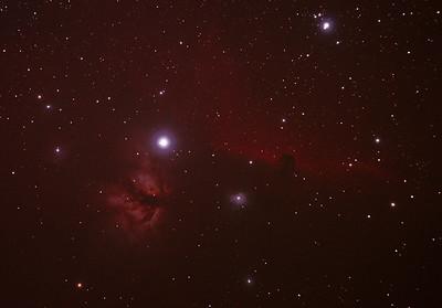 IC434 Horsehead Nebula near Star Alnitak - 8-10/12/2010 (Cropped & re-processed 3 night stack)