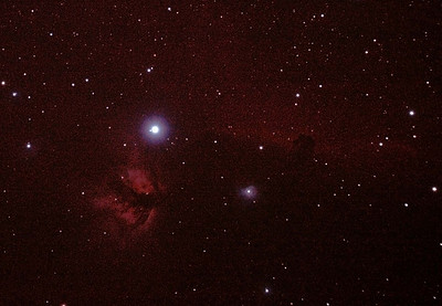 IC434 Horsehead Nebula near Star Alnitak - 14/11/2010 (Reprocessed RAW stack)