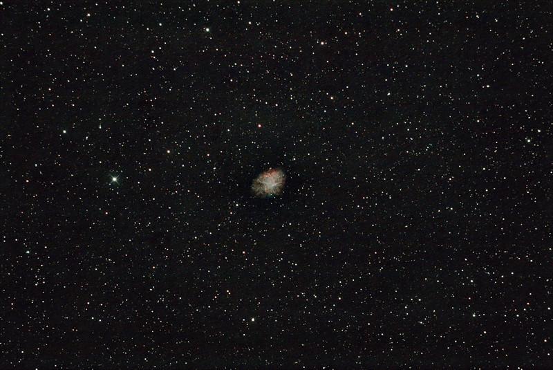Messier M1 - NGC1952 - Crab Nebula Supernova Remnant - 19/12/2020 (Processed stack)