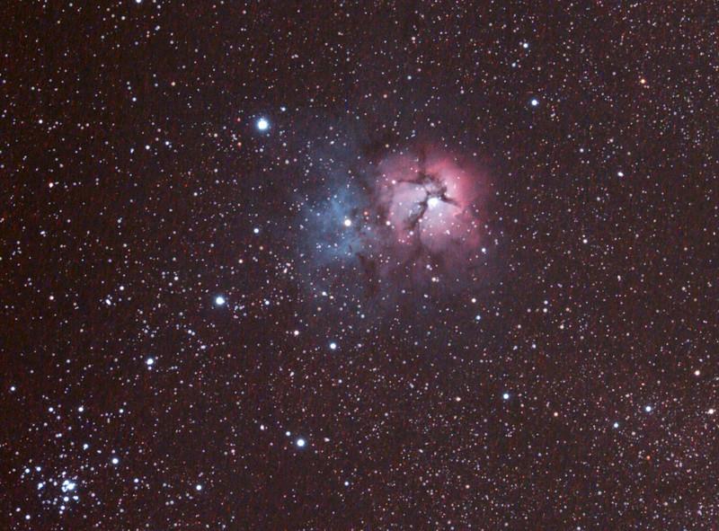Messier M20 - NGC6514 - Trifid Nebula- 1/4/2011 (Processed Cropped stack)