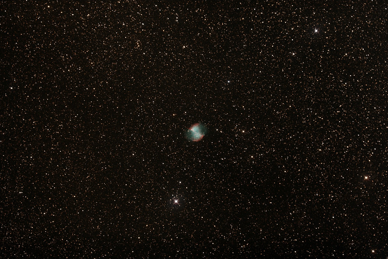 Messier M27 - NGC6853 - Dumbbell Planetary Nebula in Vulpecula - 10/7/2015 (Processed stack)