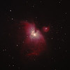 "Messier M42 NGC1976 Orion Nebula and NGC1977 Running Man Nebula - 14/04/2012 (Processed and cropped stack)<br /> <br /> Prime focus of a borrowed 8"" f/4 Newtonian. Cropped to show M42 only from the central portion of the image to minimise coma distortion. This was late in the year for M42 so it was low in my western skyglow and lacks detail and definition. Also see the uncropped version.<br />  <br /> DeepSkyStacker 3.3.2 Stacked 85% of 6 Images ISO 800 120 Sec, 32 DARK, 0 BIAS, 0 FLATS, Post-processed by Photoshop CS5<br /> <br /> Telescope - Bintel BT200 f/4.0 Newtonian with no Coma corrector (borrowed from Stephen Boyd), Hutech IDAS LPS-P2 filter, Canon 400D DSLR, Ambient 15C. Mount - Skywatcher NEQ6 Pro. Guidescope - Orion ShortTube 80 with Star Shoot Auto Guider."