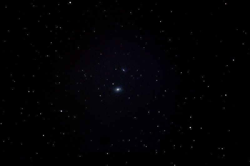 Messier M85 - NGC4382 - Lenticular Galaxy in Coma Berenices - 24/5/2012 (Processed stack)<br /> <br /> DeepSkyStacker 3.3.2 Stacked 85% of 10 Images ISO 800 90 Sec, 32 DARK (60Sec ... had none at 90Sec), 0 BIAS, 0 FLATS, Post-processed by Photoshop CS5<br /> <br /> Telescope - Bintel BT200 f/4.0 Newtonian (borrowed from Stephen Boyd) with Baader MPCC Coma Corrector, Hutech LPS-P2 filter, Canon 400D DSLR, Ambient 8C. Mount - Skywatcher NEQ6 Pro. Guidescope - Orion ShortTube 80 with Star Shoot Auto Guider.