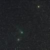 Comet Garradd C/2009 P1 - 15min trail, Messier M71 - NGC6838 Sagitta Globular Cluster, Gamma Sagitta - 26/8/2011 (Processed stack)
