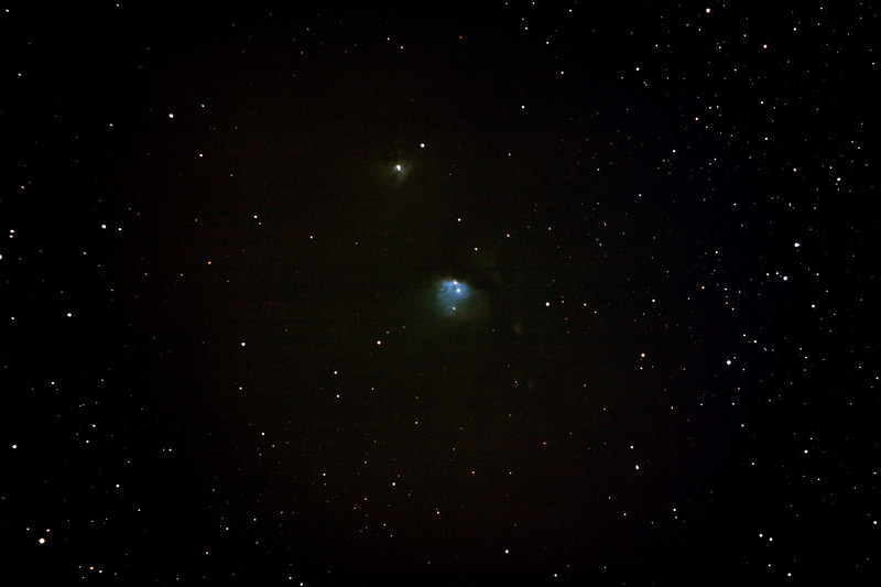 Messier M78 - NGC2068 - Reflection Nebula in Orion - 2/2/2013 (Processed stack)<br /> <br /> DeepSkyStacker 3.3.2 Stacked 85% of 15 Images ISO 800 120 Sec, 33 DARK, 75 BIAS, 0 FLATS, Post-processed with Adobe Photoshop CS5<br /> <br /> Telescope - Bintel BT200 f/4.0 Newtonian (borrowed from Stephen Boyd) with Baader MPCC Coma Corrector, Hutech LPS-P2 filter, Canon 40D DSLR field 64' x 95', Ambient 24C. <br /> EQMOD EQASCOM with Ascom 6 for mount countrol. Backyard EOS 2.09 for Image acquisition. Mount - Skywatcher NEQ6 Pro. Guidescope - Orion ShortTube 80 with Starlight Xpress Superstar (mono) CCD guide camera and Stark Labs PHD auto guiding software.