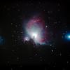 M42 NGC1976 Orion Nebula & NGC1977 Running Man Nebula - 28/10/2013 (Processed stack)