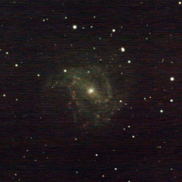M83 - NGC5236 - Southern Pinwheel Galaxy - 1/2/2021 (Processed cropped stack)