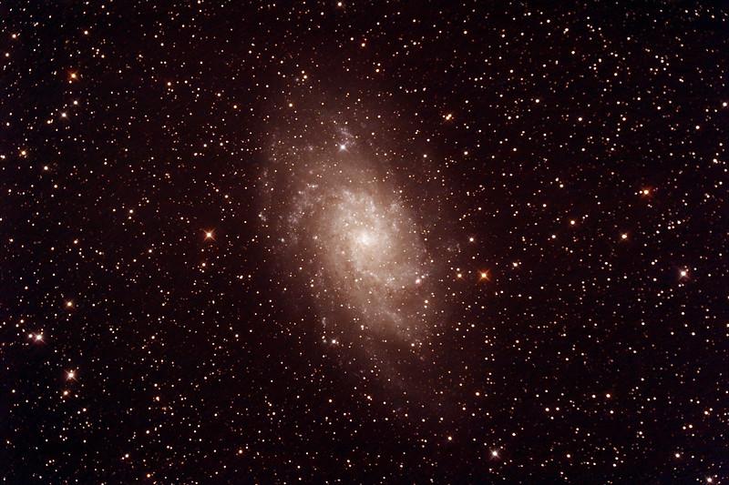 Messier M33 - NGC598 - Triangulum or Pinwheel Galaxy - 23/9/2014 (Processed stack)
