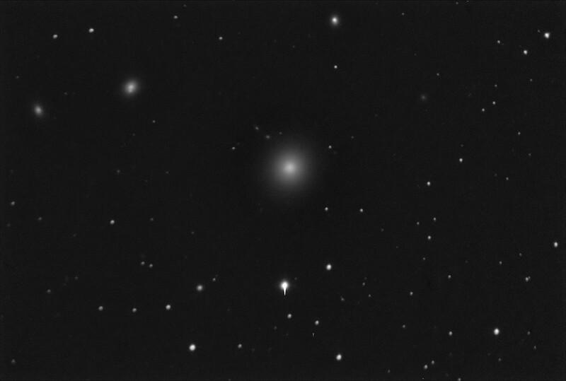 M87 - NGC4486 - Virgo A Galaxy - 21/4/2019 (Processed Mono stack)