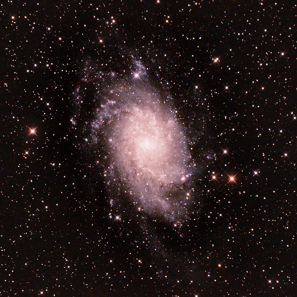 Messier M33 - NGC598 - Triangulum or Pinwheel Galaxy - 26/08/2020 (Processed cropped stack)