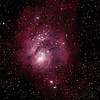 Messier M8 - NGC6523 - Gum 72 - Lagoon Nebula and Cluster - 26/8/2011 - Dark Sky site near Wagin (Reprocessed stack)