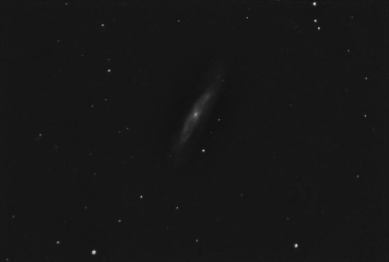 M98 - NGC4192 - Spiral Galaxy in Coma Berenices - 21/4/2019 (Processed Mono stack)