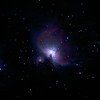"""Messier M42 NGC1976 Orion Nebula 31/10/2010 (Re-stacked and HDR Processed - 5x30sec, 3x60sec, 5x120sec @ISO400 JPEG)<br /> <br /> Having captured 3 JPEG stacks with 30, 60 and 120 sec ISO-400 exposures to gauge the difference in this High Dynamic Range object, I revisted this in early 2012 to stack the 3 stacks using DSS HDR capability, so adding a fourth image to this comparison sequence.<br /> <br /> 13 images stacked using DeepSkyStacker 3.3.2 and cropped and colour adjusted by Adobe Photoshop CS5. Taken through the Apogee 80 on the SkyWatcher NEQ6 mount. Guided for 5x30sec, 3x60sec, 5x120sec @ISO 400 in-camera JPEG with no in-camera dark, no field flattener but with a light pollution filter. <br /> <br /> Things to note in this sequence of 4 images (this is the HDR amalgamation of the 3 stacks) is the increased extent and density of the nebula as the the exposure time increased from 30 to 60 to 120 seconds. The central area becomes over exposed with the longer durations needing careful mid-tone stretching or HDR image amalgamation. The number of obvious hot pixels increases with exposure and without the use of 'dark frames' to try to combat these. This was my first experience with the high dynamic range of this object and the challenges of getting good processed image from the images. This is my first use of DSS HDR stacking capability, on light captured over a year earlier. <br /> <br /> Cropping has avoided some of the spherical aberration from the outer edges of the original image. Focused using a Bahtinov Mask. <br /> <br /> By the end of October 2010, nearly two months after getting started, I decided that all the advice regarding using RAW images was now worth pursuing as the value of 'Dark' frames needed to be explored and these must be RAW frames. The DeepSkyStacker software, that I had chosen to use for stack processing, has a very comprehensible website that describes the image processing process here <a href=""""http://deepskystacker.free.fr/english/theo"""